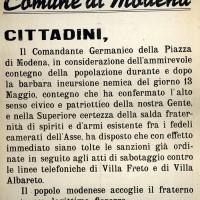 Manifesto del Comune di Modena.