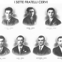 Ritratti dei sette fratelli Cervi.