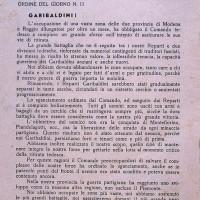 Documento partigiano sulla battaglia avvenuta a Montefiorino.