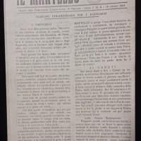 """Prima pagina del periodico clandestino """"Il Martello"""", organo della Federazione comunista di Piacenza, anno I, n. 9, 18 ottobre 1944"""