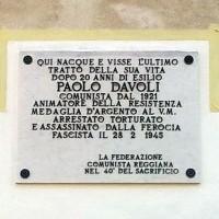 Targa in memoria di Paolo Davoli