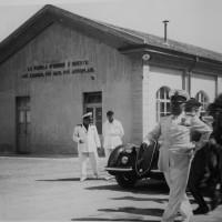 Mussolini in visita all'Arsenale militare di Piacenza (anni '40)