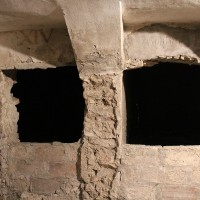 Catacombe del convento dell'Osservanza. Vani delle vecchie tombe