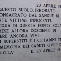 Lapide ai caduti della Gnola.