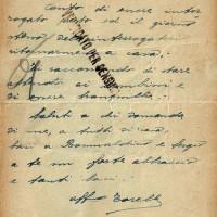 Lettera di Torello Latini inviata alla moglie Leda il 20 giugno 1944 dal carcere di Forl