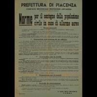 """Volantino """"norme per la popolazione civile in caso di bombardamento"""""""