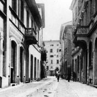 Cesena, Corso Umberto I, 1920-1922 circa (BCM Fondo Dellamore, FDP 888)