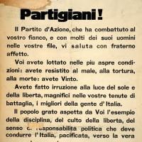 Manifesto del Partito d'azione.