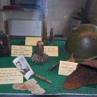 Il Museo della Resistenza di Sperongia di Morfasso: alcuni cimeli esposti.