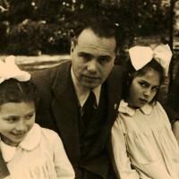 Mario Guidazzi con le figlie