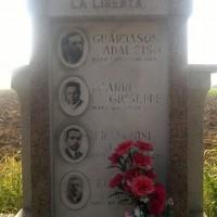 Il cippo dedicato alla memoria dei quattro patrioti fucilati dai fascisti