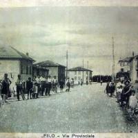 Via Provinciale di Filo, paese di Agida Cavalli Vandini, nell'anteguerra.