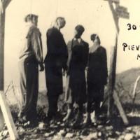 Impiccagione di partigiani in Appennino.