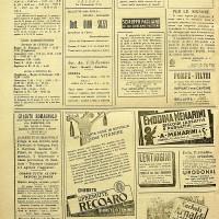 Pubblicità dello studio Balazs sul giornale cattolico \