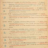 Elenco delle famiglie miste di Cesena - prima facciata (Archivio di Stato)