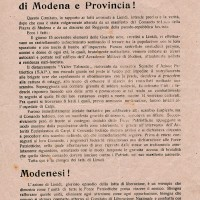 Volantino del CLN sulla vicenda di Limidi.