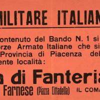 Volantino affisso sui muri di Piacenza