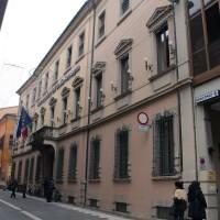 Palazzo Fantaguzzi, sede della Banca Popolare di Cesena come appare oggi