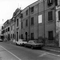 """Cesena, chiesa già """"Casa di Dio"""" in Corso Ubaldo Comandini, 1976-1979 circa (BCM Fondo Bacchi, FBP 2275)"""