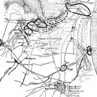 Linea del Fronte 23 gennaio 1945. Ministero della Difesa, Stato Maggiore dell'Esercito, Ufficio Storico, I gruppi combattenti, (1944- 1945) Roma 1973