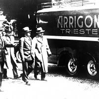 Benito Mussolini visita uno stabilimento Arrigoni, Anni 30 (ANPI-Cesena)