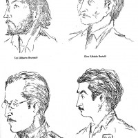Ritratti di partigiani della 47a brigata Garibaldi (di Ubaldo Bertoli, partigiano Gino ).