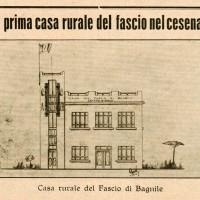 """Disegno della Casa del Fascio ne """"Il Popolo di Romagna"""" del 27 novembre 1934. Si nota l'assenza del balcone"""