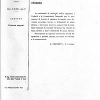 Documento che prescrive il divieto licenze per negozi ebrei (Archivio di Stato)