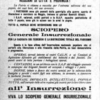 Manifesto dello sciopero del 24 aprile 1945.