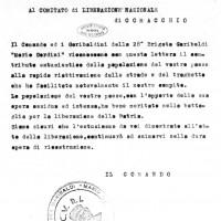 """Diario Storico della 28ª Brigata Garibaldi Distaccamento di Comacchio, Boldrini, """"Comacchio partigiana"""""""