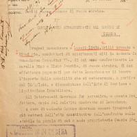 Documento di confisca della casa delle sorelle Jacchia (Archivio di Stato)