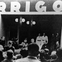 Cesena, visita di Benito Mussolini all'Arrigoni, 1935 circa (BCM Fondo Bacchi, FBP 912)