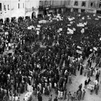 Cesena, manifestazione Arrigoni nell'attuale piazza del Popolo, anni 40