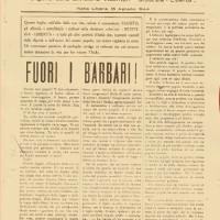"""Il primo numero del """"Grido del Popolo"""" stampato a Bobbio."""