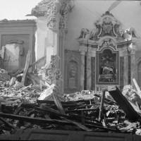 Gli effetti del bombardamento.