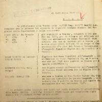 Documento del 1944 attestante l'allontanamento di Hazan da Cesena (Archivio di Stato)