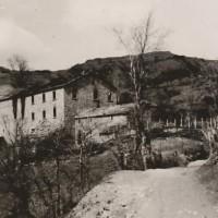 La via centrale di Fragheto in un'immagine d'epoca.