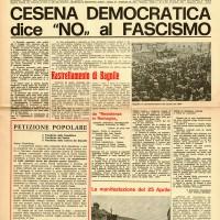 """Il """"Giornale del Comune"""" con l'articolo della manifestazione partigiana davanti alla ex Casa del Fascio, 10 giugno 1973"""