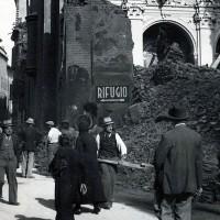 I resti della chiesa di San Salvatore in Via Servi dopo il bombardamento del 13 maggio 1944.