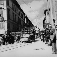 L'arrivo delle truppe americane a Modena.