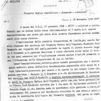 Documento di licenziamento del prof. Mondolfo dall'ospedale (Archivio di Stato)
