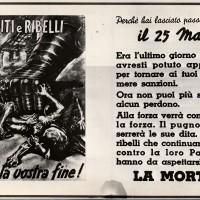 La propaganda della Rsi minaccia partigiani e renitenti alla leva fascista nella primavera del 1944