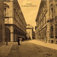 Cesena, ex Palazzo Malatesta (Corso Garibaldi), ante 1913 (BCM Fondo Bacchi cartoline, FCB 889)