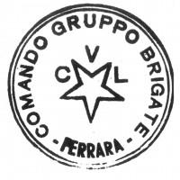 Timbro del Commando gruppo Brigate