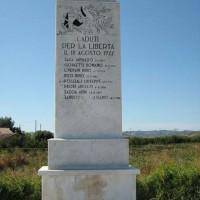 """Monumento ai """"CADUTI PER LA LIBERTA'"""" a Ruffio di Cesena, Rotonda Martiri Ponte di Ruffio."""