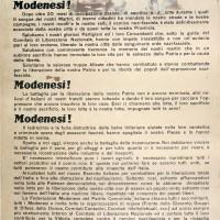 Manifesto della Federazione modenese del Partito comunista italiano.