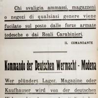 Minacce tedesche nei confronti della popolazione.