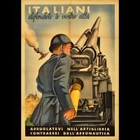 Manifesto per l'arruolamento nell'artiglieria contraerea
