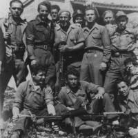 Alcuni partigiani della bassa della 38° Brigata Garibaldi.