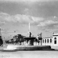 il viale B. Mussolini visto dalla stazione